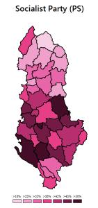 Wybory parlamentarne 2013 - poparcie dla Partii Socjalistycznej